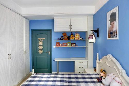 地中海风格二居室卧室婴儿床装修效果图大全