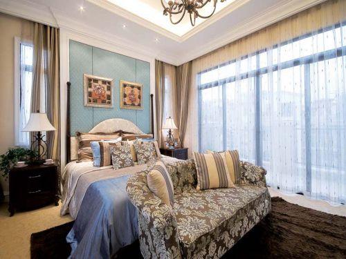 地中海风格四居室卧室背景墙装修效果图