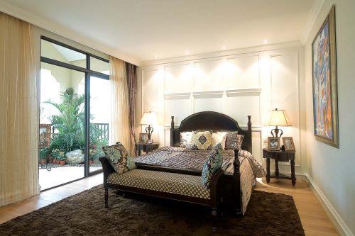 地中海风格四居室卧室吊顶装修效果图欣赏