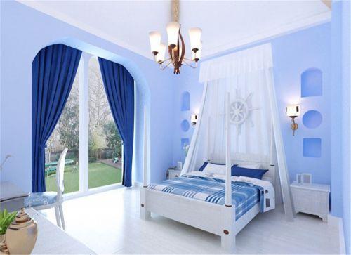地中海风格二居室卧室飘窗装修图片