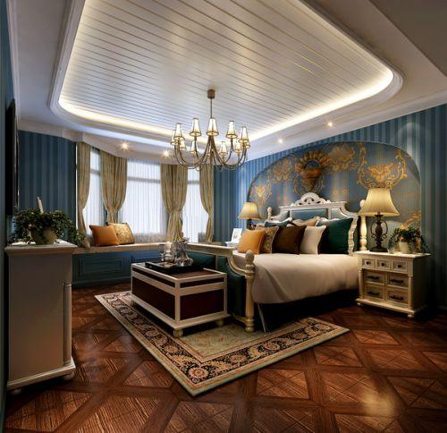 地中海风格复式卧室装修效果图欣赏