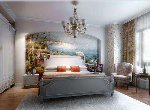 地中海风格三居室卧室装修效果图欣赏