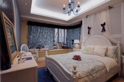 地中海风格四居室卧室吊顶装修效果图