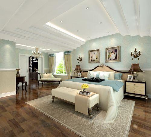 地中海风格五居室卧室吊顶装修效果图