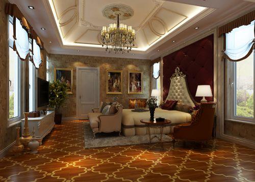 地中海风格别墅卧室装修效果图大全