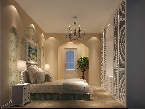 地中海风格三居室卧室壁纸装修效果图欣赏