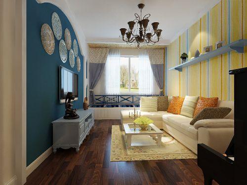地中海风格一居室卧室装修效果图欣赏