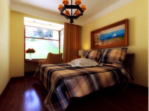 地中海风格二居室卧室装修效果图