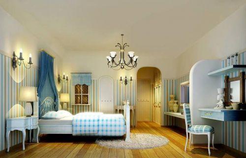 地中海二居室卧室装修图片欣赏