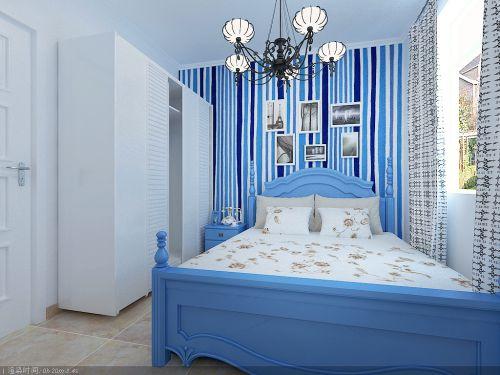 地中海风格一居室卧室装修效果图大全
