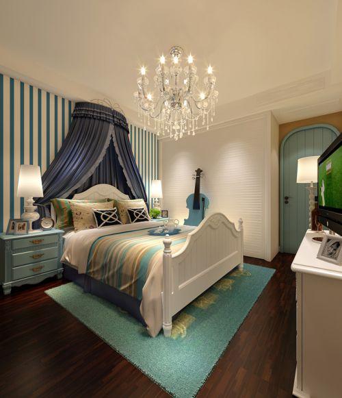 地中海三居室卧室装修图片
