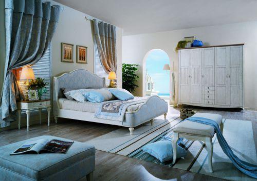 赏心悦目地中海风格卧室效果图