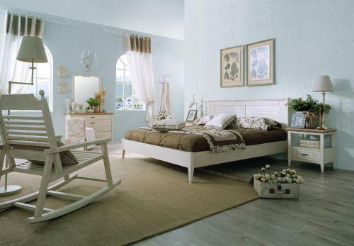 浪漫自然地中海风格卧室效果图
