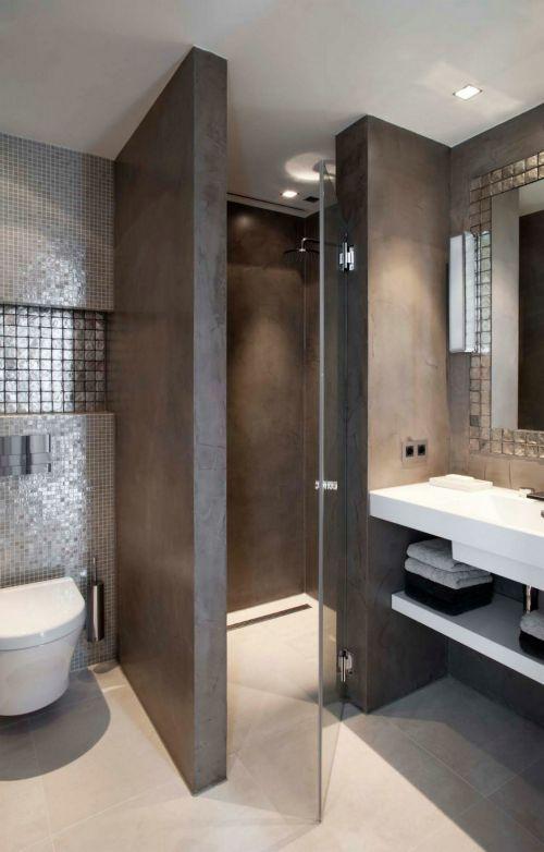 奢华黑色现代风格卫生间装修实景图