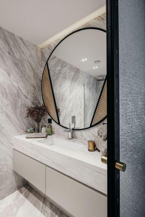 艺术个性现代风格卫生间洗手台装修图片