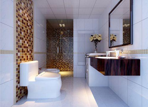 现代简约四居室卫生间灯具装修图片