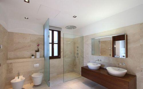 现代简约三居室卫生间灯具装修效果图欣赏