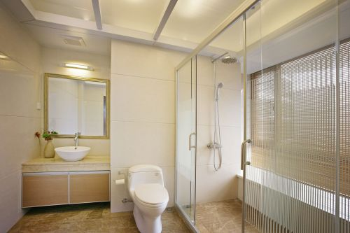 现代简约公寓干净清爽卫生间装修图片