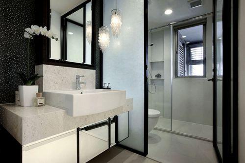 现代简约风格大气卫生间淋浴间装修效果图