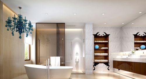 现代风格卫生间原木色储物柜效果图