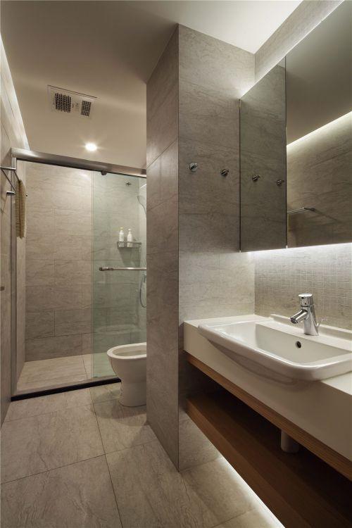 沉稳时尚现代风格卫生间洗手台装修设计