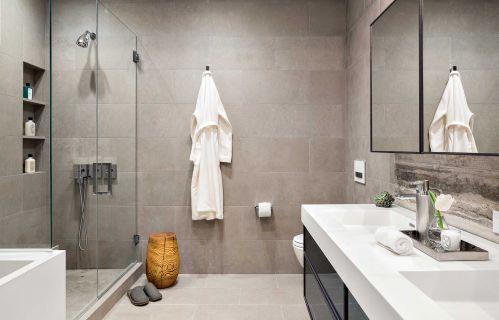 灰色简单现代简约风格卫生间装修图片