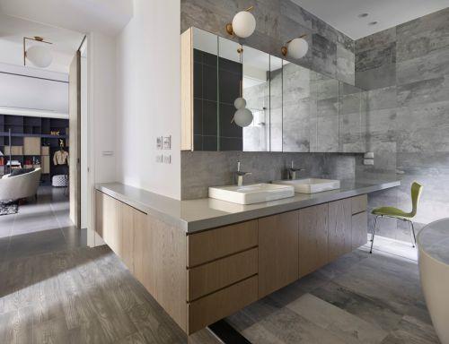 创意个性现代风格卫生间装修实景图