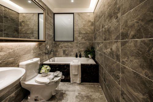 轻奢现代风格卫生间浴缸装修实景图