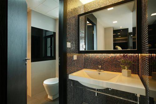 简约风格干湿分离卫浴间洗手台设计效果图