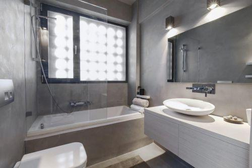 灰色现代风格卫生间装修效果图