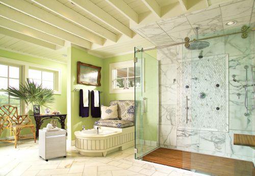 现代风格实用卫生间玻璃隔断装修图片