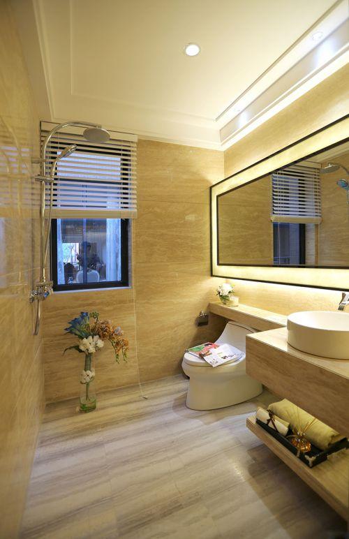现代风格极简米色卫生间装修效果图