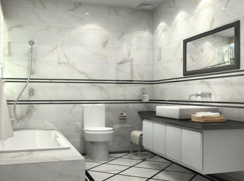 三居室现代风格卫生间浴缸装修效果图