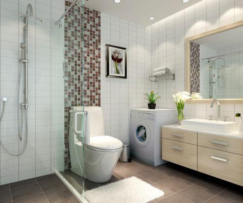 现代简约一居室卫生间吊顶装修效果图