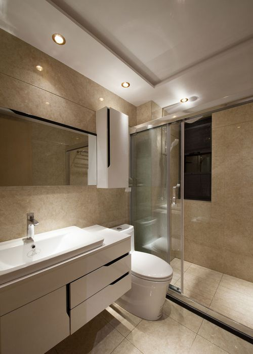 华丽现代风格卫生间效果图欣赏