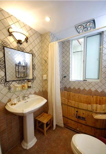 现代简约一居室卫生间装修图片