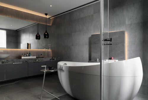 三居室现代风格卫生间个性浴缸效果图