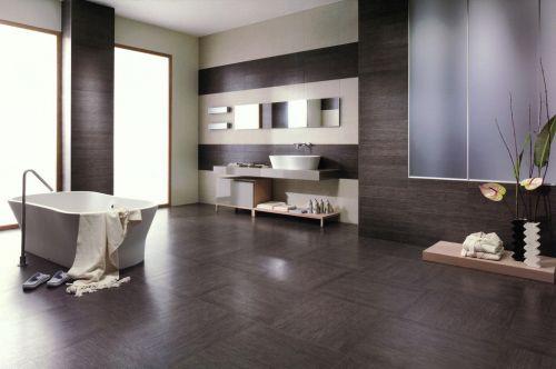 五居室现代简约风格卫生间浴缸装修效果图