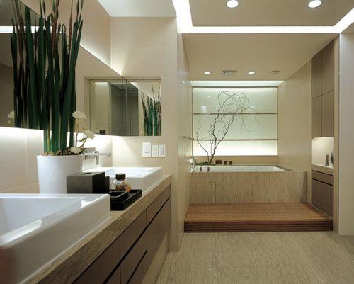 现代简约风格大气型卫生间浴缸装修效果图
