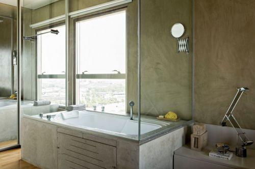 现代风格卫生间时尚舒适浴缸装修图片