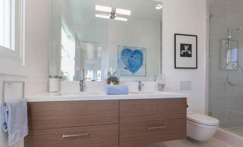 时尚现代风格卫生间洗手台设计
