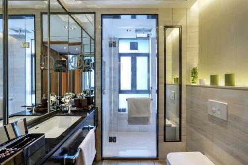 黑色现代中式风格花园洋房卫生间装修