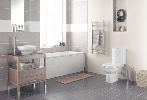 三居室现代简约风格卫生间浴缸效果图