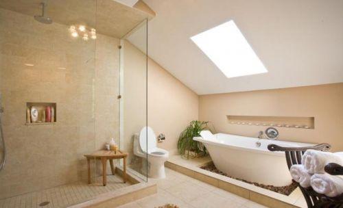 现代简约复式楼阁卫生间淋浴间效果图