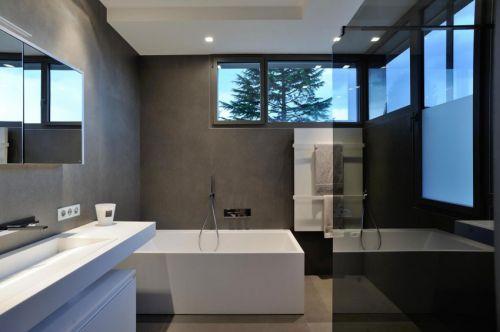 大气时尚现代风格卫生间浴缸装修图片