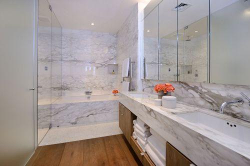 清爽自然现代风格卫生间洗手台装修图片