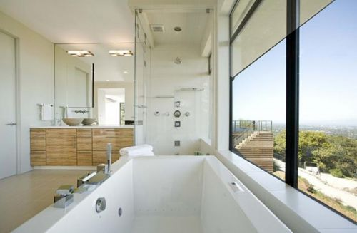 洋房现代风纯白卫生间淋浴间装修效果图