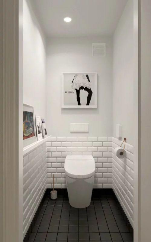 整洁白色现代风格卫生间装修设计