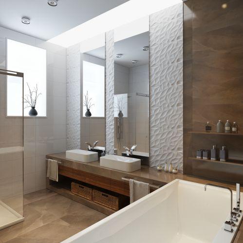 时尚优雅现代风格卫生间装修设计图