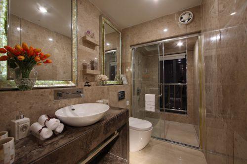 奢华现代风格卫生间装修实景图